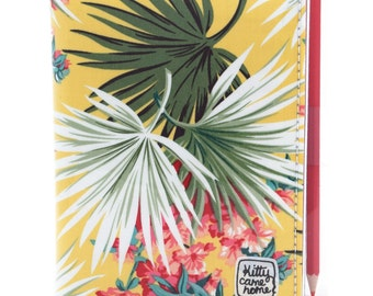 A6 Journal - Palm fronds fabric