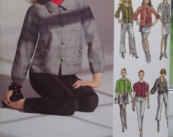 Project Runway Misses' Jacket Pattern Simplicity 0503 Sewing Pattern High Fashion Lined Jacket, Sleeve Variations, Pockets Size 4 - 12 UNCUT
