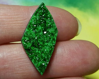 Sale UVAROVITE GARNET Top Quality 20 Carat Druzy Crystal Cabochon From Ural Mountains Russia Sale