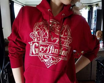 Hogwarts House (Gryffindor) Inspired Hooded Sweatshirt by BKCC