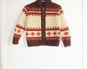 Vintage Children's Brown Cowichan Sweater
