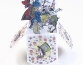 Alice in Wonderland Birthday Card - Pop Up Card In Box - Invitation UnBirthday - Happy BIrthday - Customizable Personalized - Unbirthday