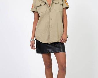 The Khaki Veterans of Foreign Wars Tan Military Shirt