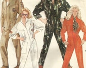 Vintage McCalls 3252 UNCUT Unisex Jumpsuit - Flight, Military or Racing Jumpsuit Sewing Pattern Size Medium