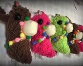 Custom Order for Tiffany Sandlin: Plush Llama keychains
