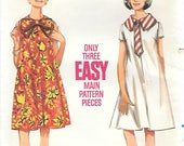 Butterick 4349 UNCUT 1960s Sleeveless Maternity Dress with Bow or Necktie Vintage Sewing Pattern Size 16 Bust 36 Full Tent Dress