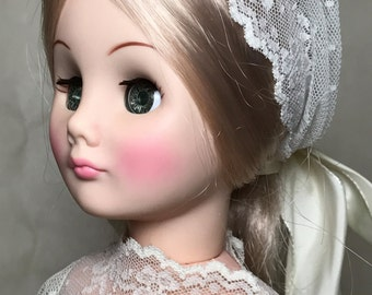 1970s Effanbee Blond Bride Doll - 14.5 Inches