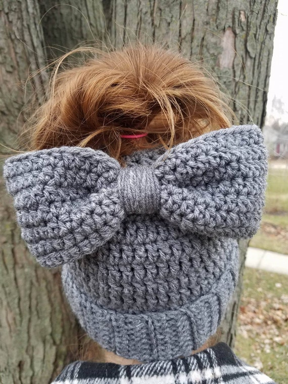 Messy Bun Hat Beanie with Bow, Mom Bun Monday, World's Okayest Mom, Mom Bun Hat, Christmas Gift For Mom, Mommy and Me Outfits, Mom Life Hat