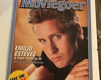 Moviegoer magazine poster Emilio Estevez September 1986