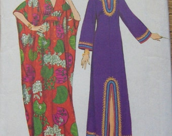vintage 70s simplicity pattern 5315 misses caftans sz  medium 12-14