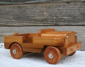 Adorable Vintage Handmade Wood Car / Great Collectible or Decorative Piece