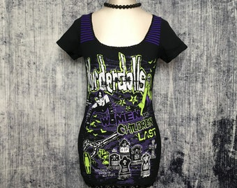 Murderdolls Women's T-Shirt // Reconstructed T-Shirt // Size Small // Music Alternative Gothic Goth Horror Punk