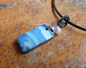 Boulder Opal, Quartz pendant necklace, male jewellery - for lovers of blue and the ocean - handmade one of a kind natural jewelry