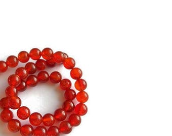 Red Agate  Beads , 15.5 Inch Strand , 4MM  Genuine  Red Agate Gemstones