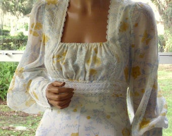 "Gunne Sax Dress ""A Breath of New Spring"""