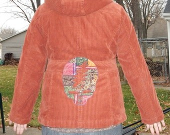 Grateful Dead SYF Corduroy Jacket Bolts on Front Lined Warm Patchwork OOAK