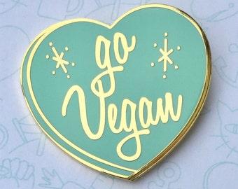 Go Vegan Aqua Pin