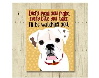 Bulldog Magnet, Bulldog Art, Bulldog, Dog Magnet, Dog Lover Gift, Bulldog Gift, Fridge Magnet, Refrigerator Magnet, Dog Lover Gift, Funny