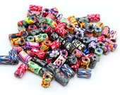 Fimo Tube  Beads, 11x6mm,  50 pcs, Fimo Beads, Spacer Beads