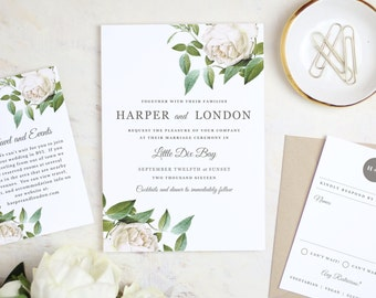 Instant Printable Wedding Invitation Template | Ivory Botanical | Word Or  Pages | MAC Or PC