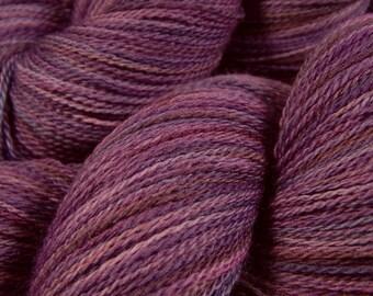 Hand Dyed Lace Yarn - Lace Weight Superwash Merino Wool Yarn - Potluck Purples - Knitting Yarn, Purple Hand Dyed Yarn, Gift For Knitter