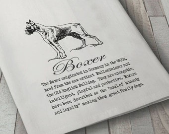 Boxer Dog Towel, Dog Towel, Dog Lover Towel, Flour sack Towel, Tea Towel, Kitchen Towel, Cotton Towel, Boxer Towel, Canine Towel, Boxer