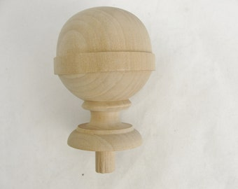 Large wooden ball finial