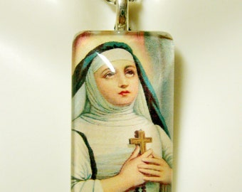 Saint Therese of Lisieux pendant with chain - GP12-170