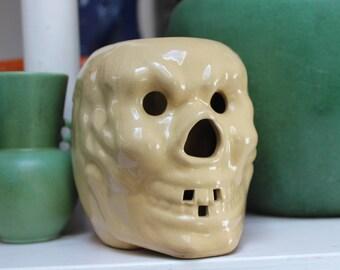 Skull Mug Flat Jaw Trader Vic's Novelty VINTAGE by Plantdreaming