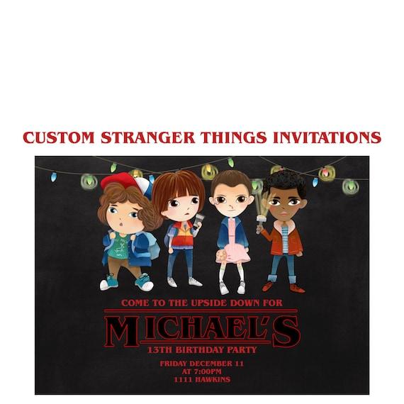 Stranger things invitation custom stranger things netflix party il570xn stopboris Image collections
