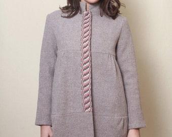 Winter Coat, Women Jacket, Fashion Coat, Embroidered Coat, Minimalist Jacket, Bohemian Clothing, Plus Size Coat, Warm Coat, Knitted Jacket