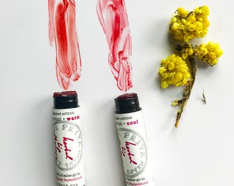 extra tinted HERBAL LIP THERAPY - *Planned Parenthood fundraiser* - organic botanically tinted lip balm with calendula helichrysum rosemary