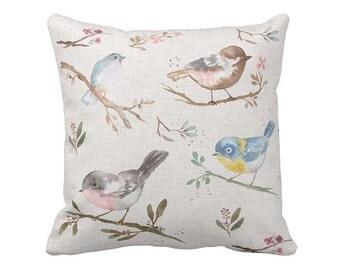 Pillow Cover Springtime Watercolor Birds
