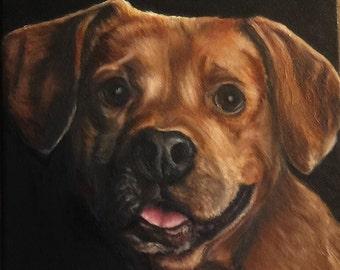 """6"""" x 6"""" Custom Pet Portrait Painting- dog portrait - custom painting - dog lover - fine art portrait"""
