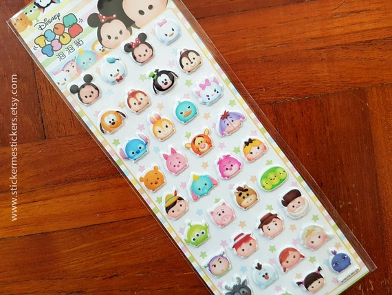 Eeyore Disney Tsum Tsum Tigger Piglet Minnie Mouse: Puffy Tsum Tsum Stickers, Winnie The Pooh, Mickey Mouse