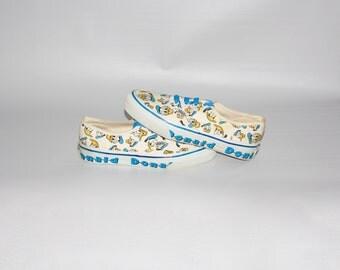 Vintage DONALD DUCK VANS Sneakers Punk Skate Tennis Shoes Size W 6.5
