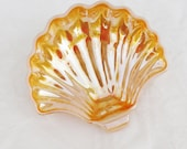 Vintage Peach Luster Shell Dish