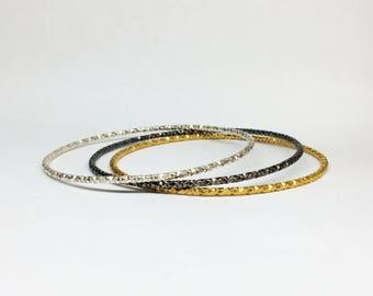 sterling silver bangle bracelet boho bracelet gold bangle bracelet rhodium plated bracelet silver stacking bracelets one bracelet or set  3