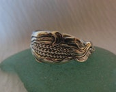 Reserved for T.  Corn  Antique Spoon Ring  Sterling Silver Size 5