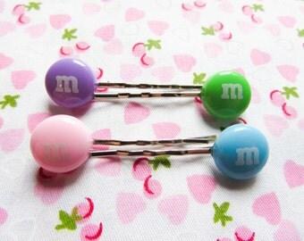 Candy Hair Pins / Bobby Pins, Cute Hair Pins / Bobby Pins, Kawaii, Sweet Lolita, Cute