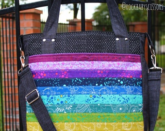 Design Your Own Patchwork Rainbow Super Tote