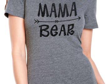 Mama Bear Tee Womens T Shirt Mom Shirt Mama Bear TShirt Mothers Day Gift Mama Shirt Funny T Shirts
