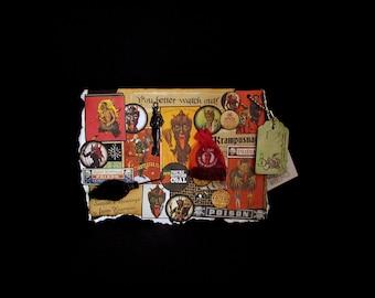 Krampus Christmas, Christmas Demon, Krampus Greeting, 71, Merry Krampus Card, Krampus Nacht, Devil Card, Happy Krampus, Christmas Card, Kram