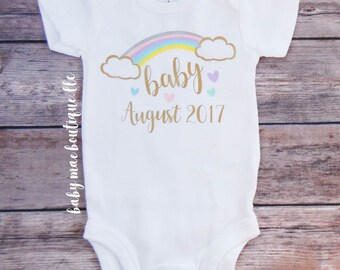 Rainbow Baby Outfit; Infertility Pregnancy Announcement; IVF Baby Bodysuit; Infertility Struggle bodysuit; Baby boy bodysuit