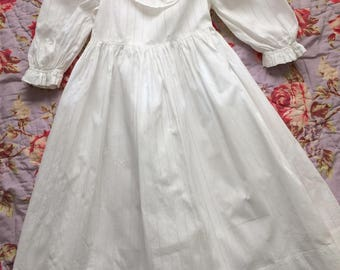 Vintage Girls Victorian White Dress Late 19th century