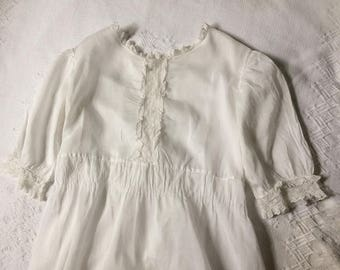 Edwardian  Dress  White Lawn Lace Trim