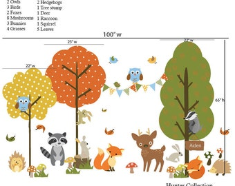 Kids Wall Decal Kids Forest Decal Fox Decals