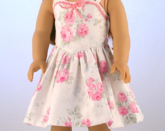 "18"" Doll Clothes fits American Girl Dolls -  Original 1950s Dress with Pink Roses"