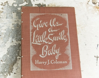 1943 LITTLE SMILE Vintage Book Journal Notebook