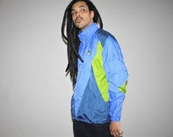 90s Vintage Nike Neon Colorblock Hip Hop Windbreaker Jacket - 1990s Nike - 90s Clothing - MV0066
